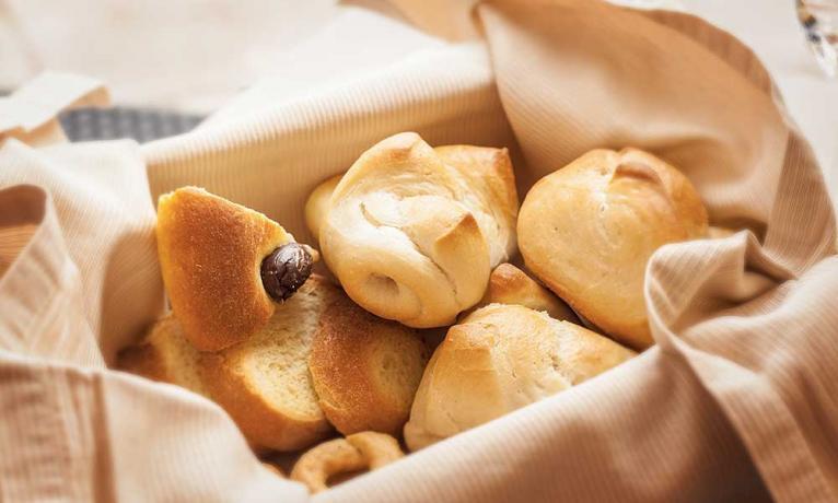 Pane fresco ottimo per la colazione