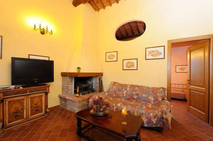 Salotto appartamento Il Gelsomino a Città della Pieve