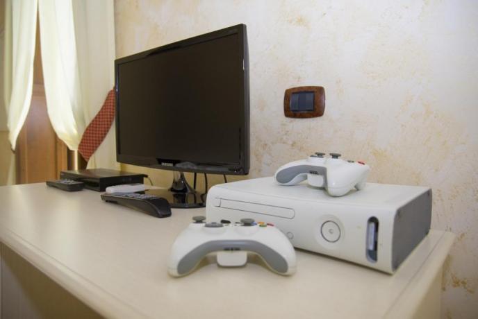 Agriturismo nel Lazio-camera con videogiochi xbox