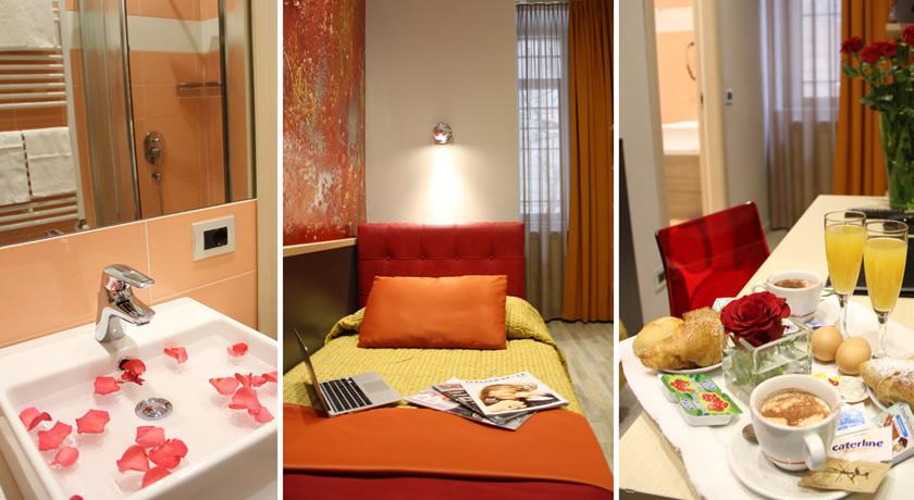 Camera singola colazione bagno privato hotel a Milano