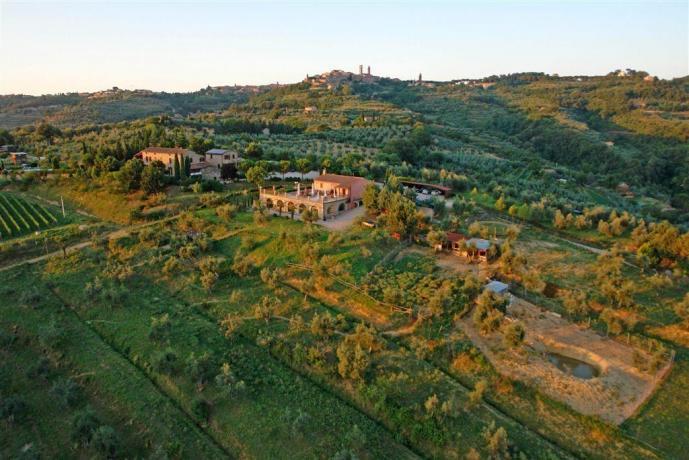 Agriturismo Città della Pieve con vista vallata umbra