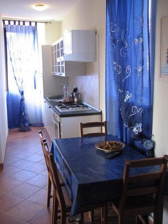 Cucina Trilocale 5 persone residence vicino Lago Vico