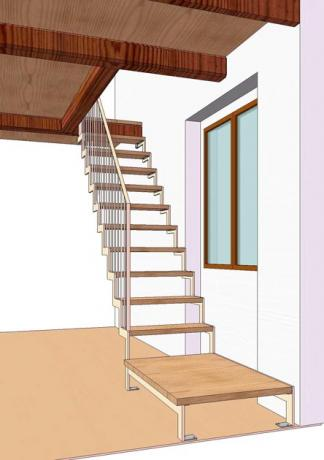 s92 scala prefabbricata acciao e legno