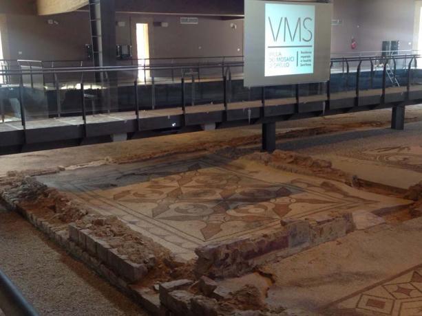 Resti archeolgici Mosaici Spello vicino Casale Acquatino