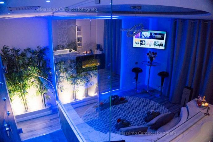 Panoramica della Luxury SPA Suite a Assisi