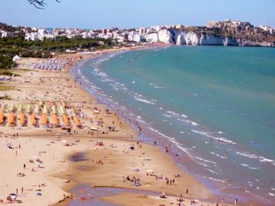 The beach in Vieste