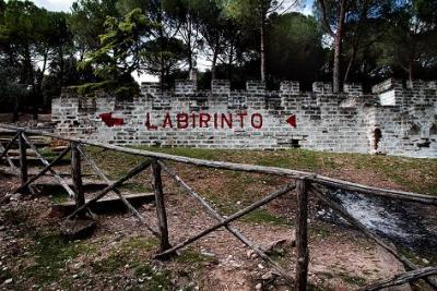 Il labirinto all'interno del parco