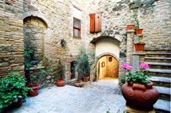 External entrance to the castle