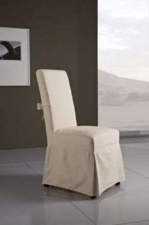 Sedia vestita con fiocco cotone Ecru (Sfoderabile)