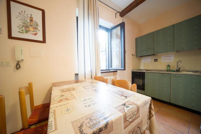 Cucina completa con forno appartamenti-vacanze monolocali Bardonecchia