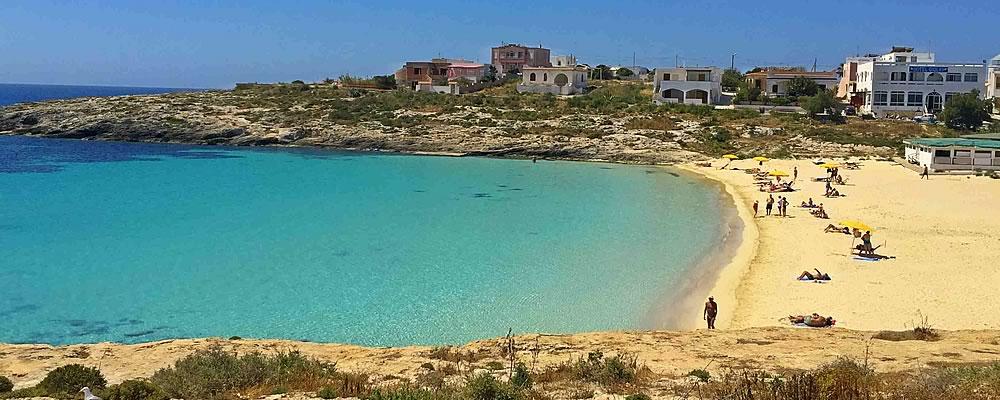 Vista mare da Villaggio vicino Lampedusa