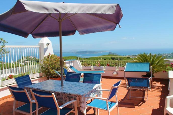 casavacanze-baranodischia-appartamenti5-9-postiletto-camino-cucina-usolocazione-terrazzapanoramica-vistamare