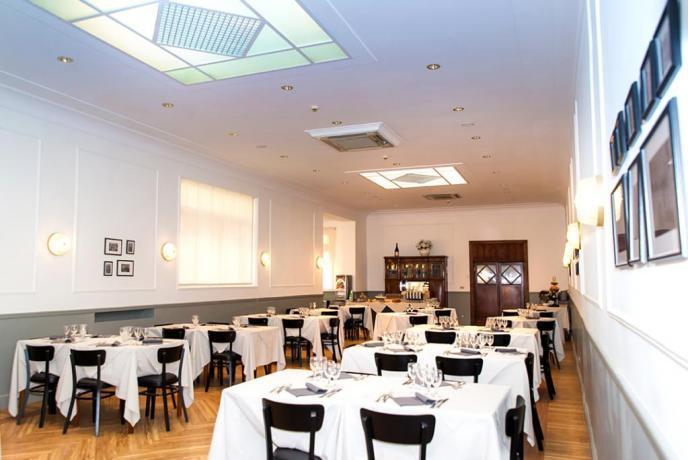 Ampia sala per colazione in Hotel a Fiuggi