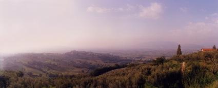 vista panoramica valle umbra sud, Casa Vacanze umbria