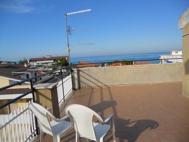 Balcone con vista mare Hotel in Abruzzo