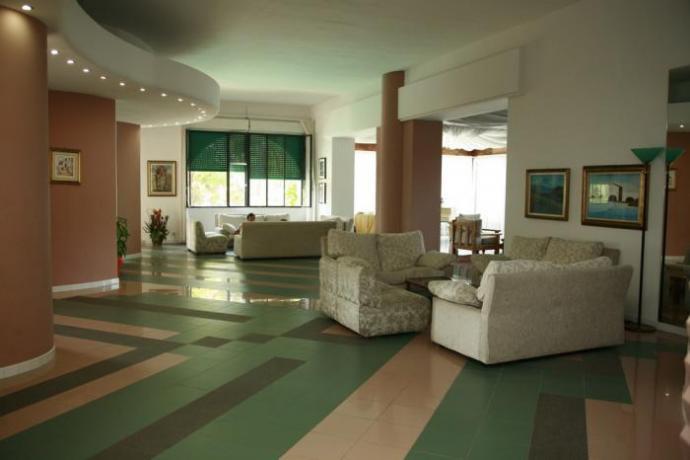 Hall albergo con Divani e Bar