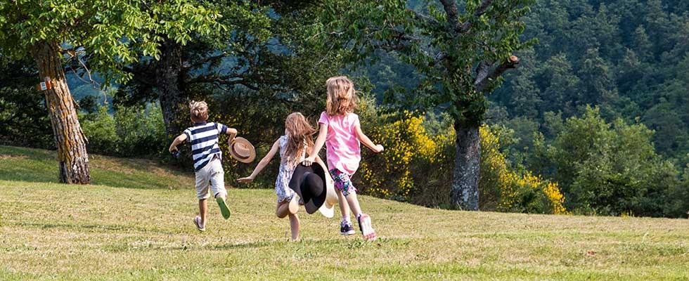 Castello con parco per bambini