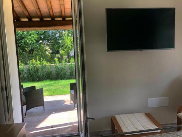 Villa Lusso a Foligno: Camera con Patio