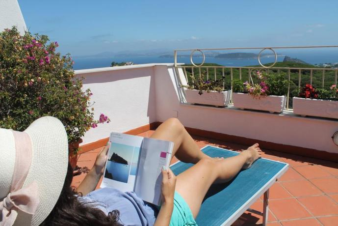 Terrazza solarium casa vacanze a Barano d'Ischia