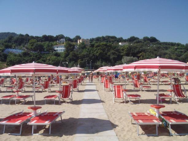 Spiaggia convenzionata con Hotel a Rodi Garganico
