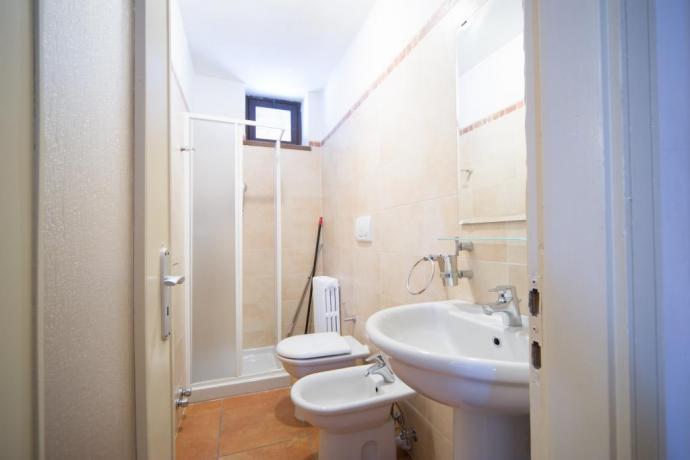 Bagno privato appartamento monolocale4persone Bardonecchia con box doccia