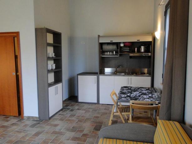 appartamenti con angolo cucina arredato
