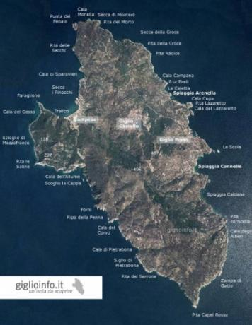 Map of Giglio island