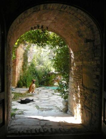 Arco di collegamento tra i 2 casali a Monestevole