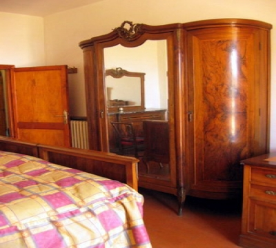 Detail of the double bedroom