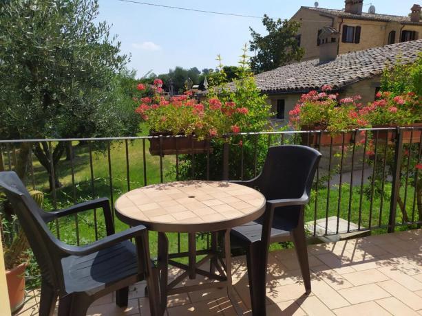Giardino privato in appartamento-vacanze a Macerata-Appignano