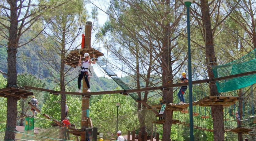 Percorsi avventura Activo Park a Scheggino