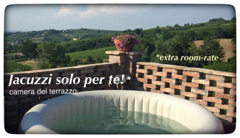 Casa Vacanza Pavia: Terrazza-Panoramica Jacuzzi e sdraio