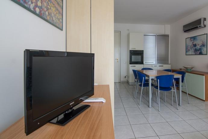soggiorno trilocale, appartamenti vacanza  sul Conero