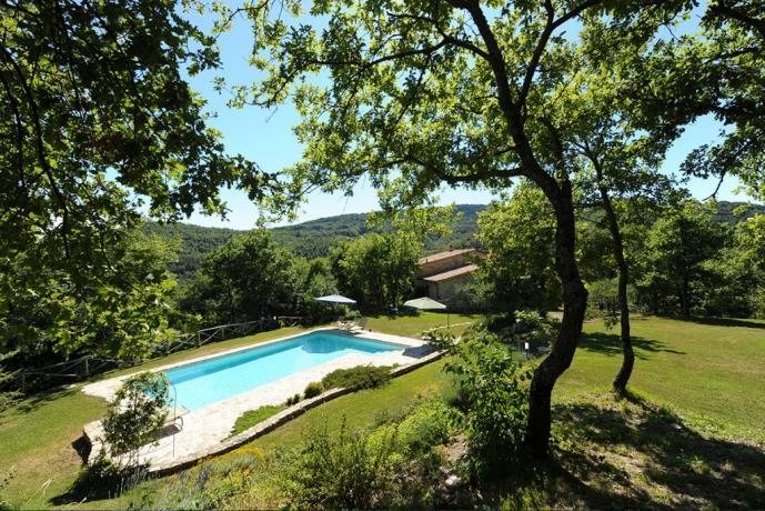 Villa a Perugia con piscina vista panoramica