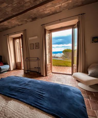 Villa fino 6 persone terrazza panoramica Lago Trasimeno
