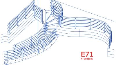scala elicoidale prefabbricata in Umbria