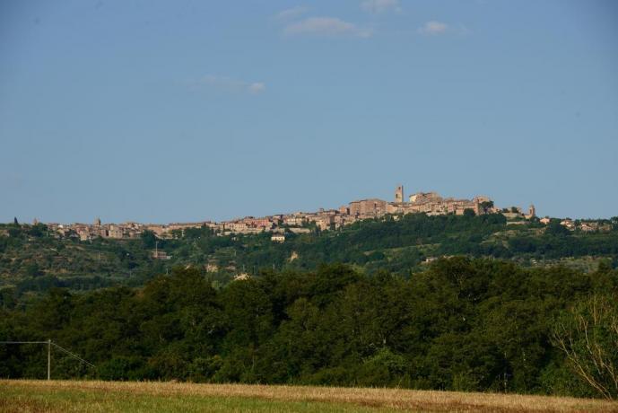 Vista panoramica di Città della Pieve in Umbria