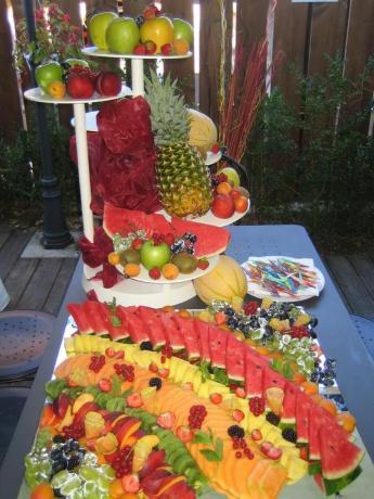 Buffet di frutta fresca albergo a Rivignano