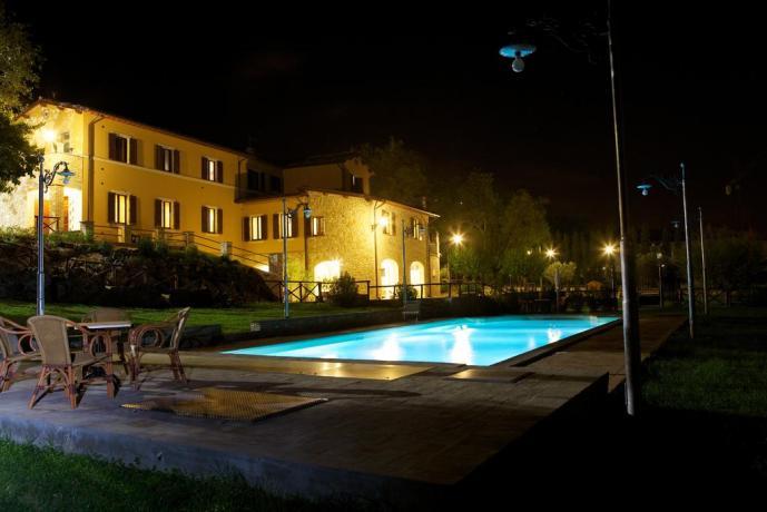 Residenza con piscina notturna a Foligno