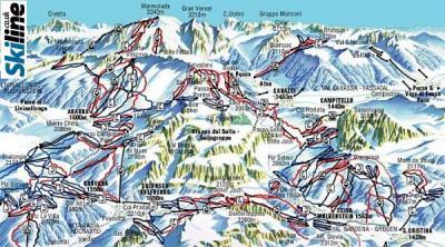 Skiing and flying in La Villa, Badia