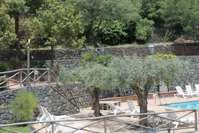 Vista piscina agriturismo ad Adrano vicino Paternò