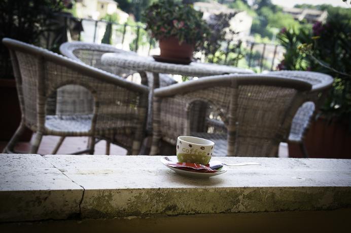 B&B Acquasparta colazione in terrazza