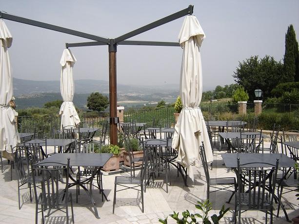 Terrazza panoramica agriturismo vicino Chiusi