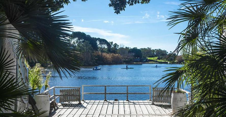 Hotel Parco Circeo, solarium vista Lago di Paola