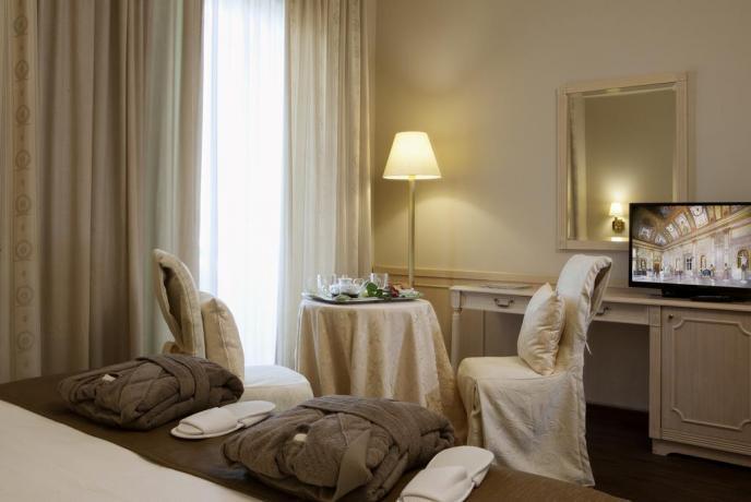 interno camera, elegante, relax, 4 stelle, viterbo