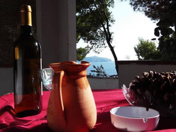 Bungalow a Palinuro con Veranda vista Mare