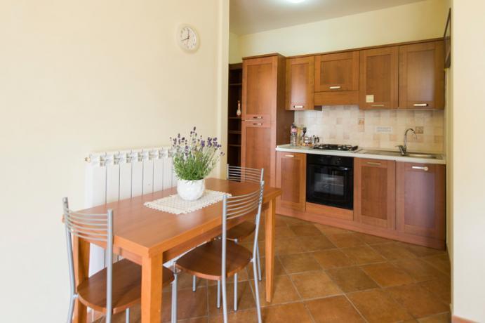 Cucina Appartamento Bilocale residence Ronciglione