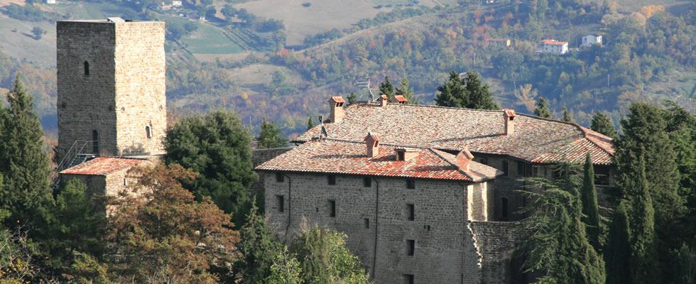External view of Castello Romantico in Gubbio