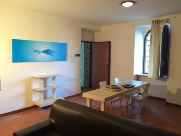 Soggiorno attrezzato al Business Apartment Perugia