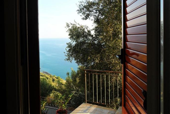 Camera con vista sul mare a Pisciotta